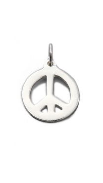 Helen Ficalora Peace Sign Charm