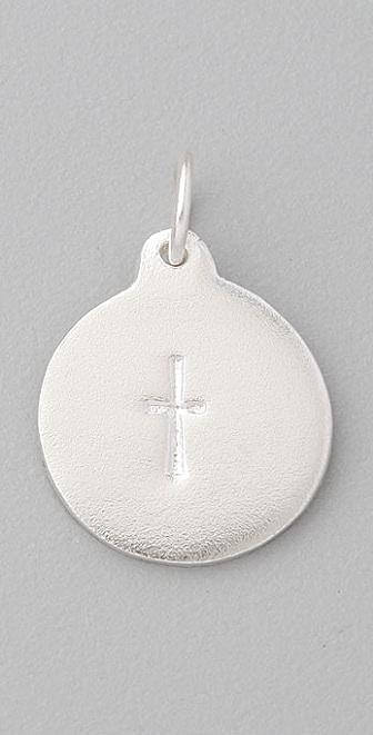Helen Ficalora Stamped Cross Charm