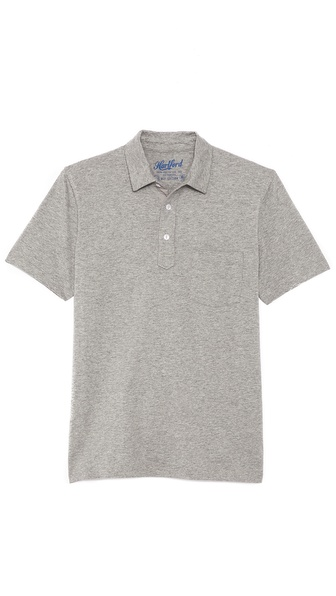 Hartford Slub Jersey Short Sleeve Polo