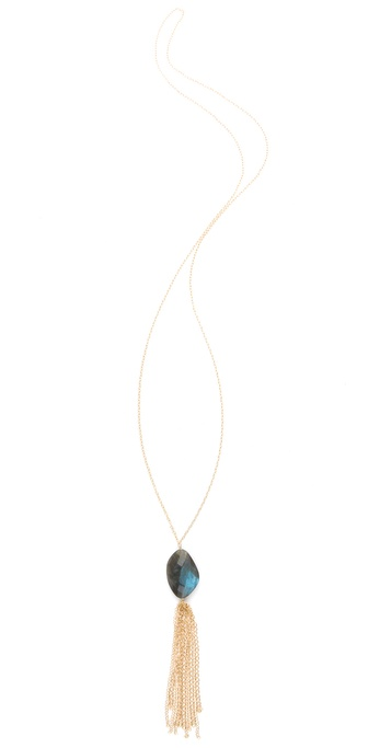 Heather Hawkins Small Chain Tassel Necklace