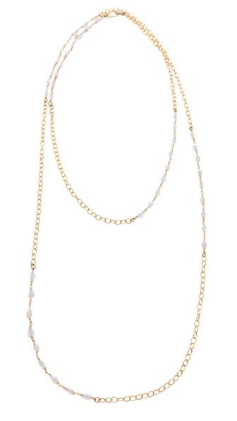 Heather Hawkins Rainbow Moonstone Necklace
