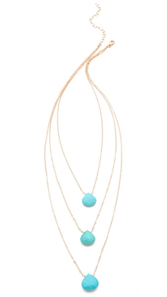 Heather Hawkins Three Tier Stone Necklace
