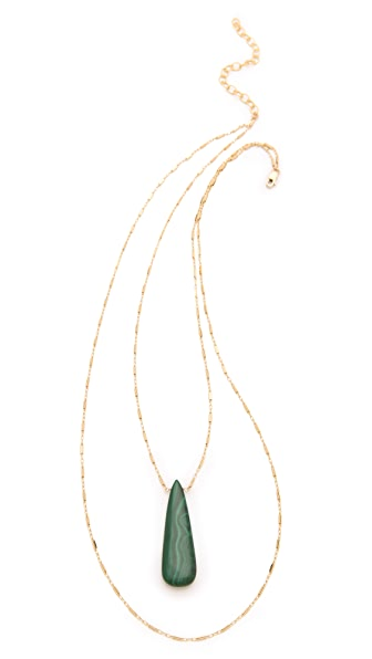 Heather Hawkins Malachite Layered Necklace