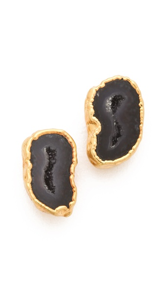 Heather Hawkins Geode Stud Earrings