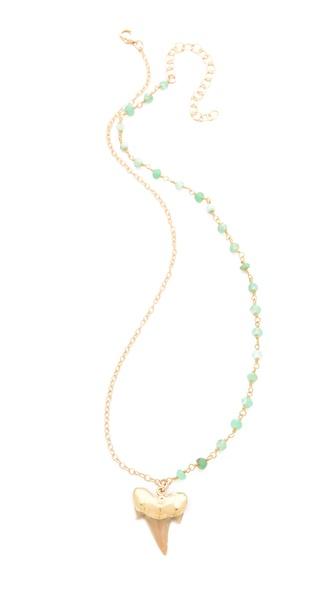 Heather Hawkins Shark Tooth Gemstone Necklace