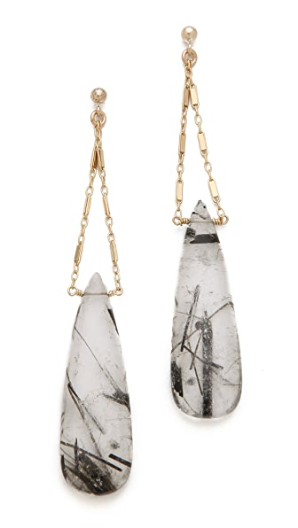 Heather Hawkins Cut Gemstone Earrings