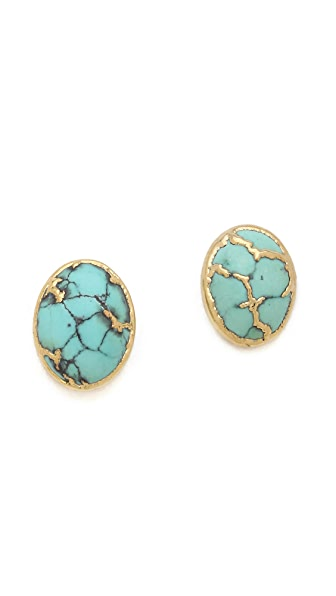Heather Hawkins Cabochon Stud Earrings
