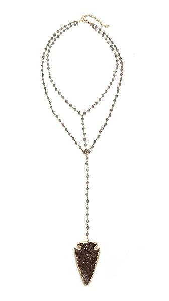 Heather Hawkins Arrowhead Double Y Necklace