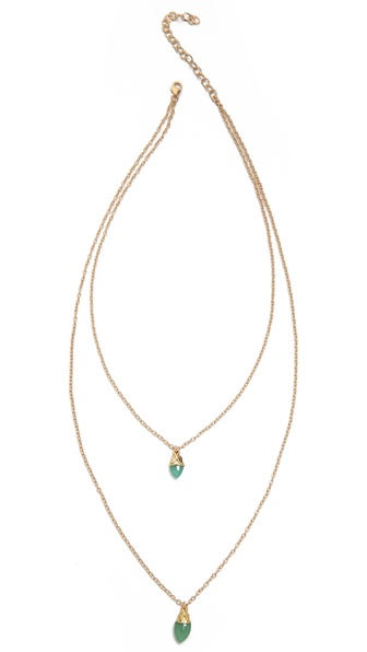 Heather Hawkins Double Layer Marquis Chain Drop Necklace