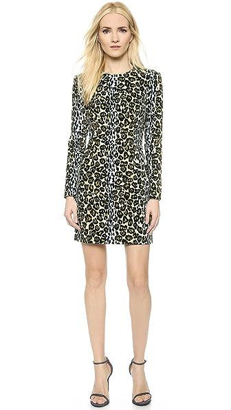 Shop House of Holland online and buy House Of Holland Leopard Velvet Tailored Dress - Leopard dresses online