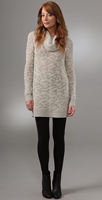Helmut Lang Cowl Neck Sweater Dress