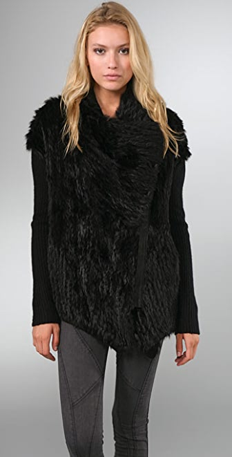 Helmut Lang Fur Sweater Jacket