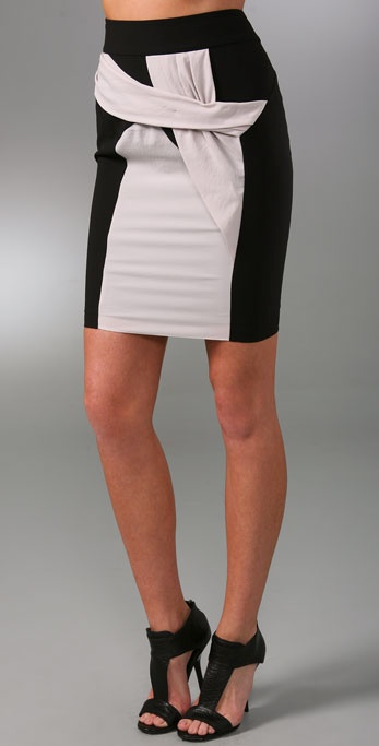 Helmut Lang Colorblock Skirt