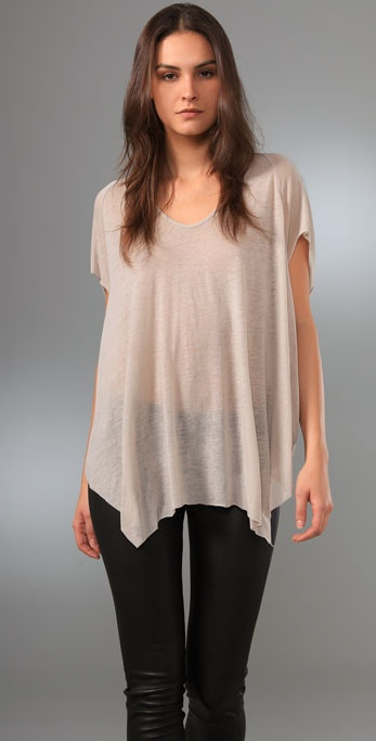 Helmut Lang Threadbare Wide Hem Tee