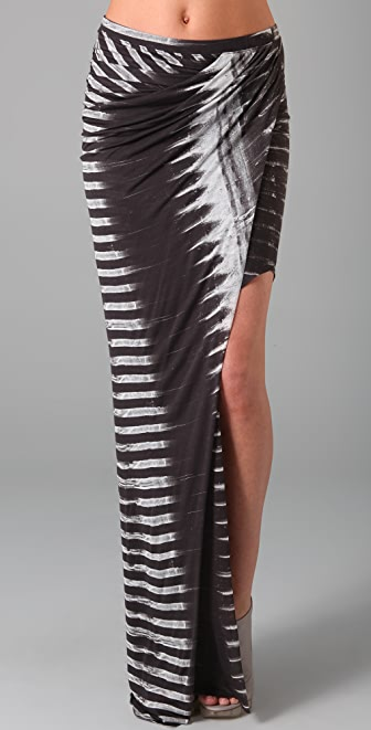 Helmut Lang Frequency Print Asymmetrical Skirt