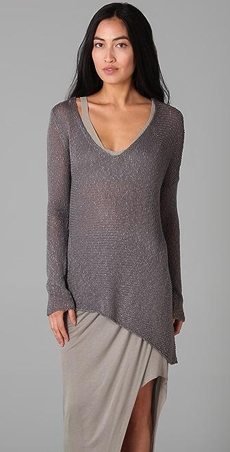 Helmut Lang Looped V Neck Sweater