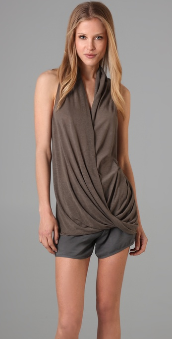 Helmut Lang Overlap V Neck Top