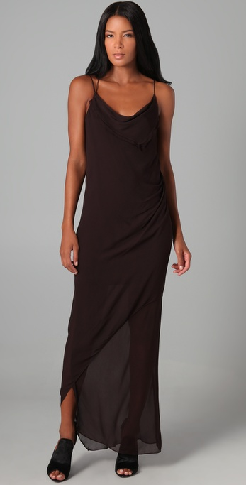 Helmut Lang Long Drape Dress