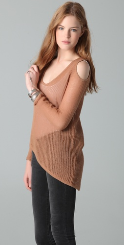 Helmut Lang Asymmetrical Cutout Sweater