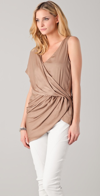 Helmut Lang Draped Asymmetrical Top