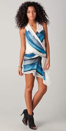 Helmut Lang Tetra Print Dress