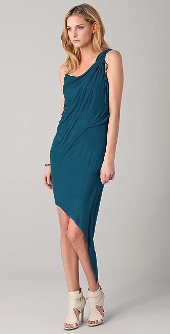 Helmut Lang Asymmetrical Shoulder Dress
