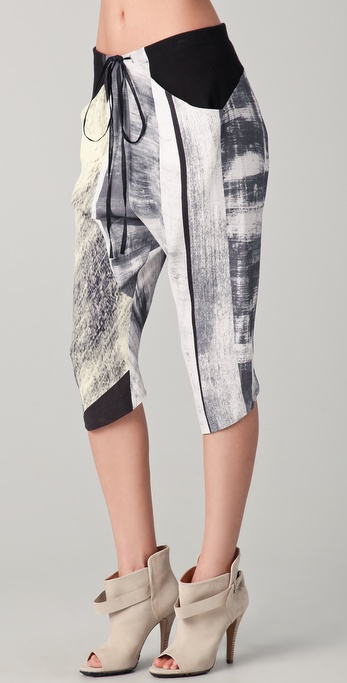 Helmut Lang Parallel Print Drawstring Pants