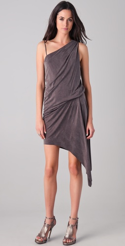 Helmut Lang Shale Asymmetrical Dress