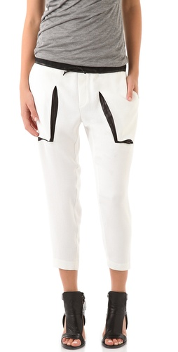 Helmut Lang Drawstring Cropped Pants