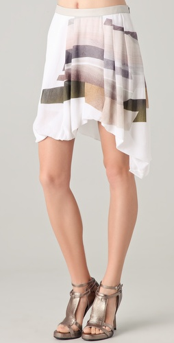 Helmut Lang Fulcrum Print Skirt