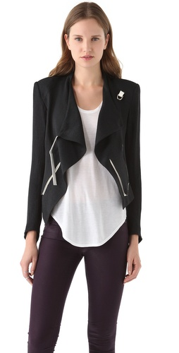 Shop Helmut Lang Cropped Jacket with Contrast Trim and Helmut Lang online - Apparel,Womens,Jackets,Non_Blazer, online Store