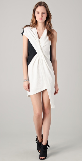 Helmut Lang Cross Tuck Dress