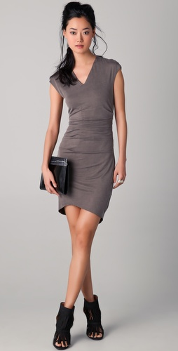 Helmut Lang Torrent Side Ruched Dress
