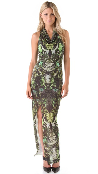 Helmut Lang Cicadae Print Maxi Dress