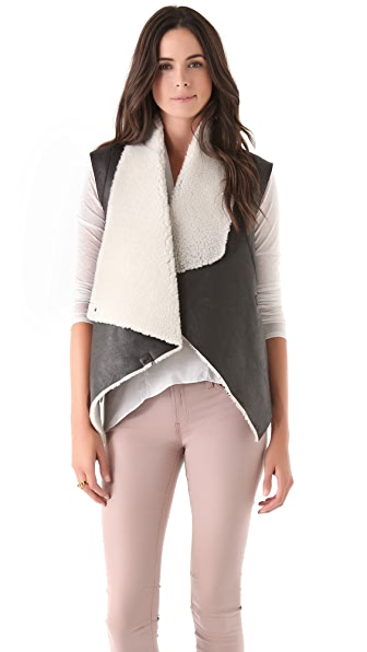 Helmut Lang Weathered Shearling Vest
