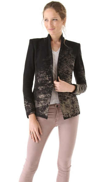 Helmut Lang Dark Forest Print Blazer