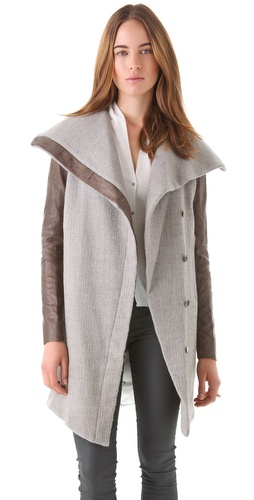 Shop Helmut Lang Willow Shawl Neck Jacket and Helmut Lang online - Apparel,Womens,Outwear,Pea_Coat, online Store