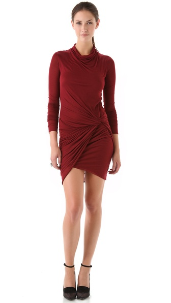 Helmut Lang Side Knot Jersey Dress