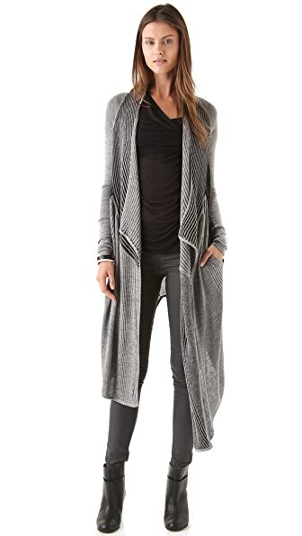 Helmut Lang Irregular Plaiting Long Cardigan