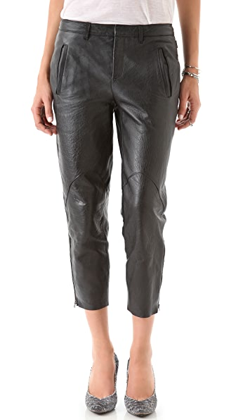 Helmut Lang Morimoto Slouchy Leather Pants