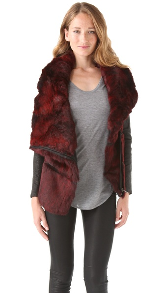 Helmut Lang Flux Fur Moto Jacket