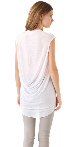 Helmut Lang Threadbare Cowl Top