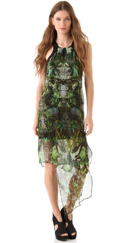 Helmut Lang Cicadae Print Dress