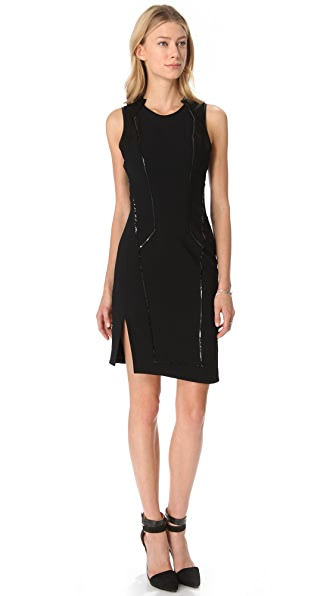 Helmut Lang Piped Wool Dress