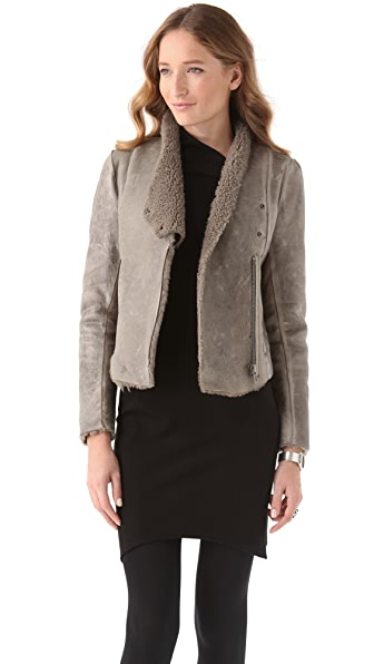 Helmut Lang Weathered Shearling Jacket