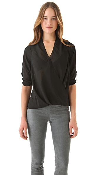 Helmut Lang Lyra Twist Front Top