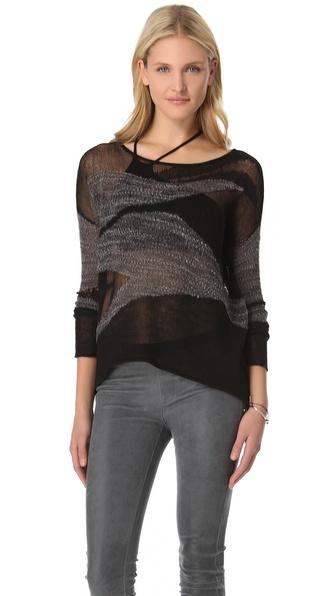 Helmut Lang Merging Texture Sweater