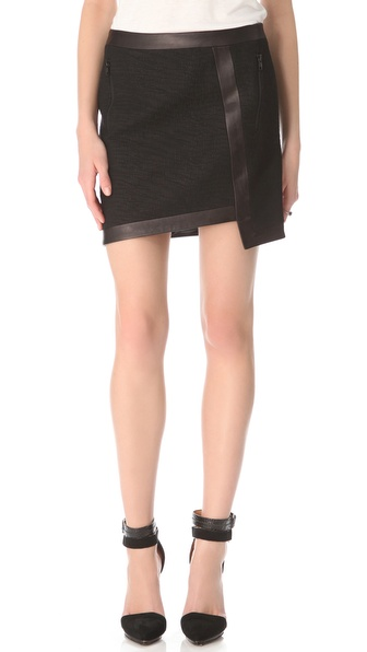 Helmut Lang Warped Suiting Uneven Skirt