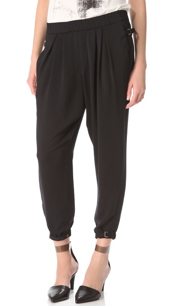 Helmut Lang Solar Drape Ruched Pants