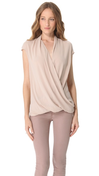 Helmut Lang Soft Shroud Twist Top